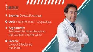 diretta facebook pezzoni scleroterapia